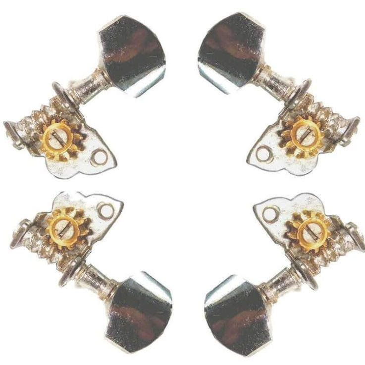 Indian Sitar Set of 4 Machine Head Tuners (2-WAY) replaces wooden pegs