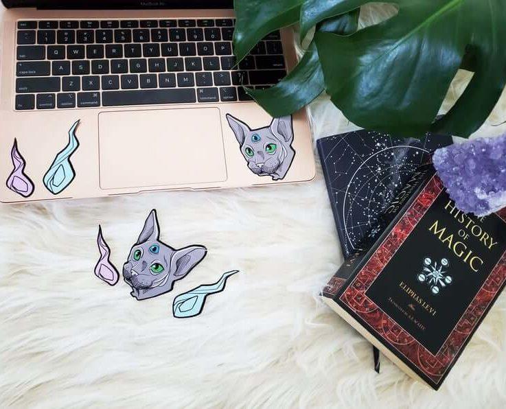 LARGE HALLOWEEN cat sticker for scrapbooking
