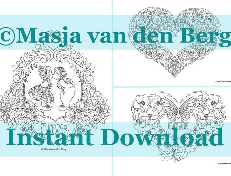 LOVE Coloring pages download