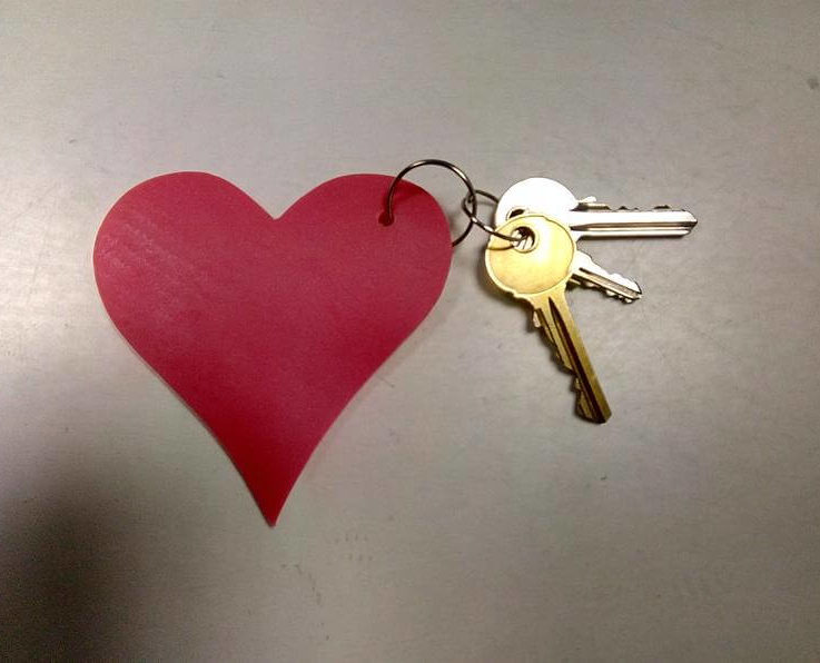 Latex keyring heart shape romantic gift