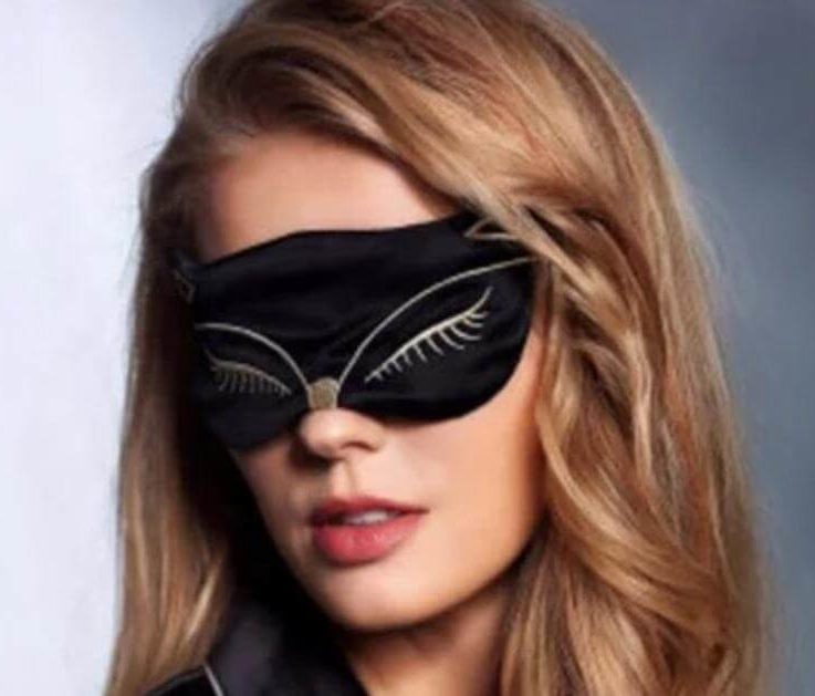 Luxury Eye mask, 100 percent mulberry silk, fox eye mask, eye covering for sleep, sleep mask,