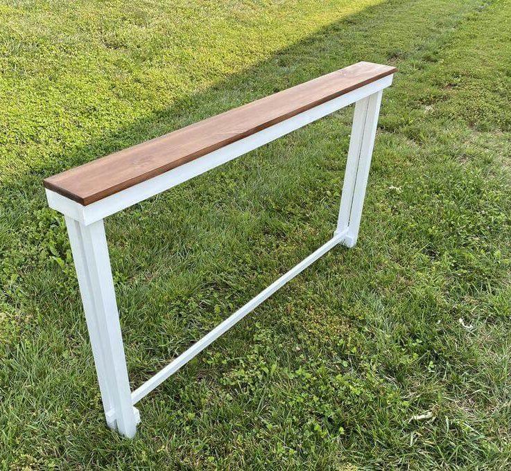 Narrow sofa table