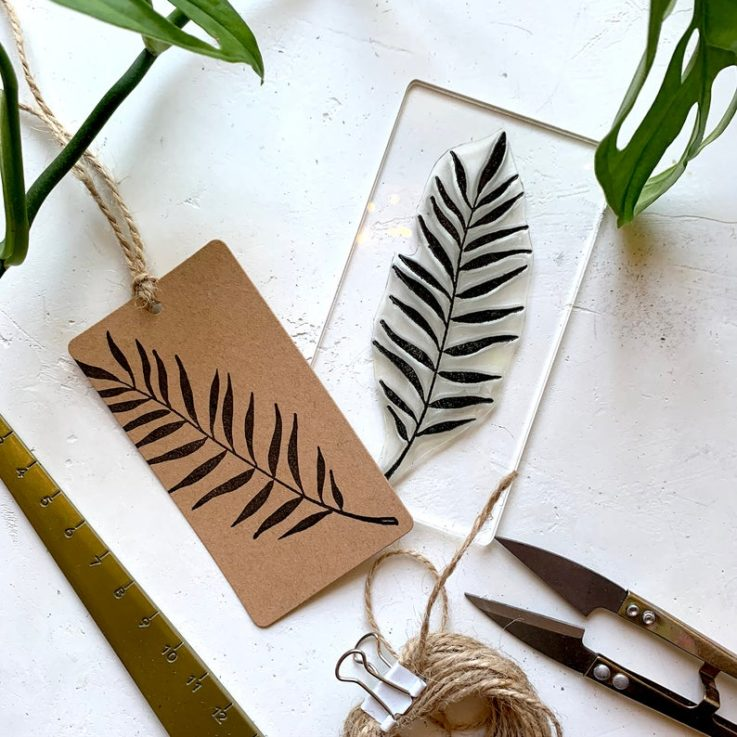 Palm Leaf Rubber Stamp - Palm Clear Rubber Stamp - Palm Leaves Stamp - Rainforest Foliage - Rubber Stamps - Sticky Stamp - LittleStampStore