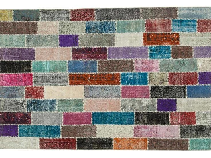 Patchwork Modern Colorful Rug for Living Room and Bedroom, 6x10 Rug, Aesthetic Room Decor Vintage, Contemporary Rug, RugRunnerRoom