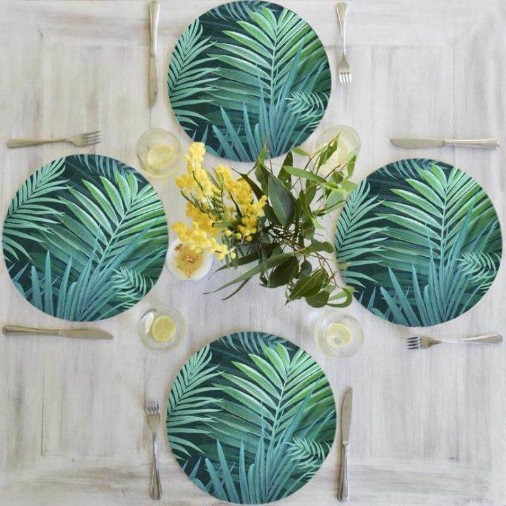Placemats, Australian Palm Tree,Kitchen Table Decor,Original Print