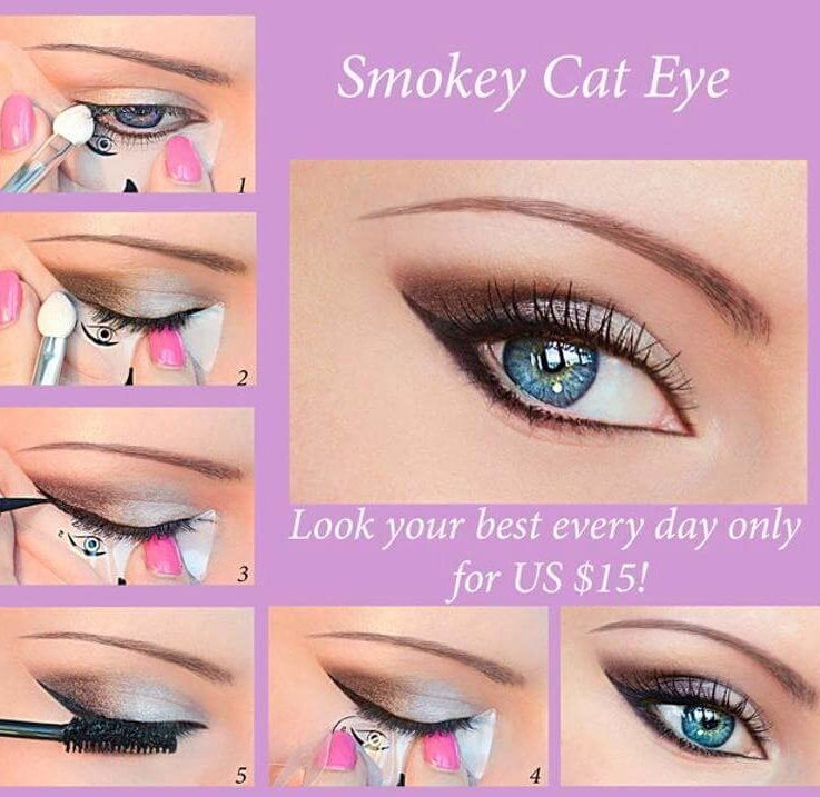 Quick Eye Makeup Stencils Eyeliner Eyeshadow Eyebrow Tool Free Shipping Cosmetic Tool for Easy Eye Makeup Many Beauty Visions