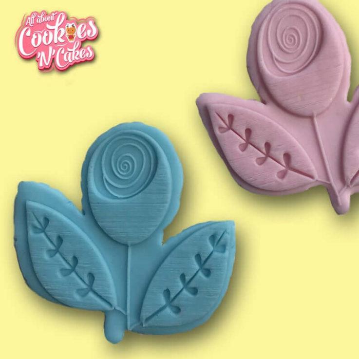 Retro Tulip The Cookie Debosser Stamp set