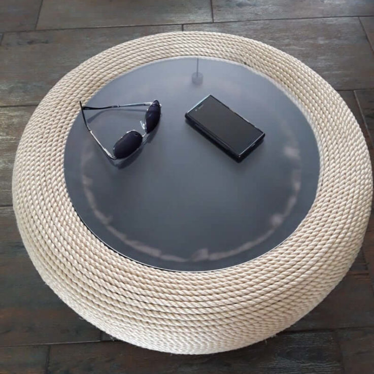 Round Coffee Table, Coffee Table, Outdoor Furniture, Housewarming Gift, Side Table, Outdoor Table, Round End Table