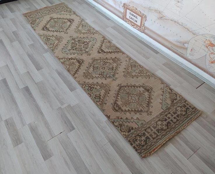Rugs for kitchen, 8ft runner, Rustic Farmhouse Kitchen Decor, Hallway stair Runner rug, 24 x 60 rug, 14 foot vintage runner, 3'00'' x11'20''