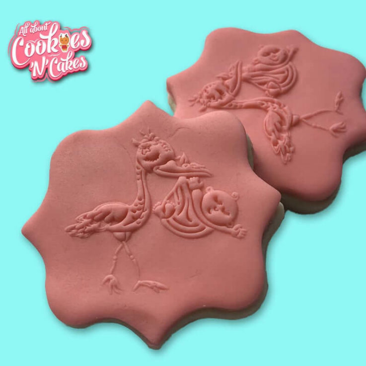 Stalk with Baby The Cookie Debosser Or Premium Embosser- Raised or imprint cookie fondant soap stamps