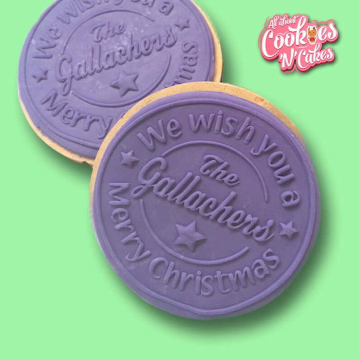 We Wish you a merry Christmas Personalised The Cookie Debosser Or Premium Embosser- Raised or imprint cookie fondant soap stamps