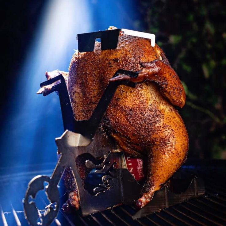 Amazing Chicken stand Beer Can Chicken holder for BBQ, Grill - oven roasting ultimate cooking tool Christmas gift! small turkey thanksgiving