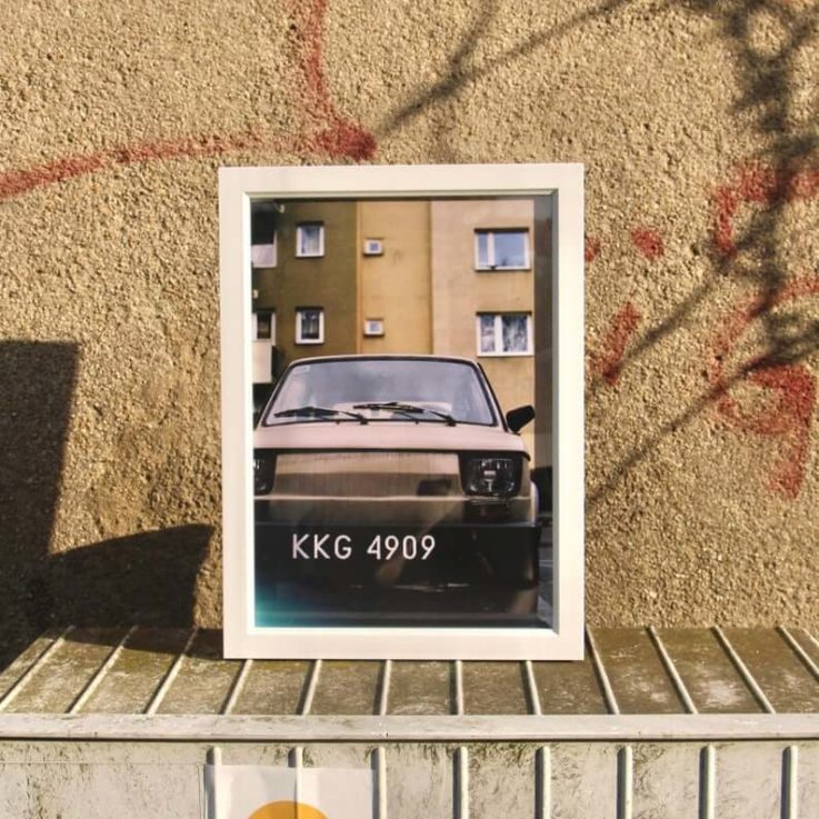 Analog Photography Print Retro Car Vintage Look