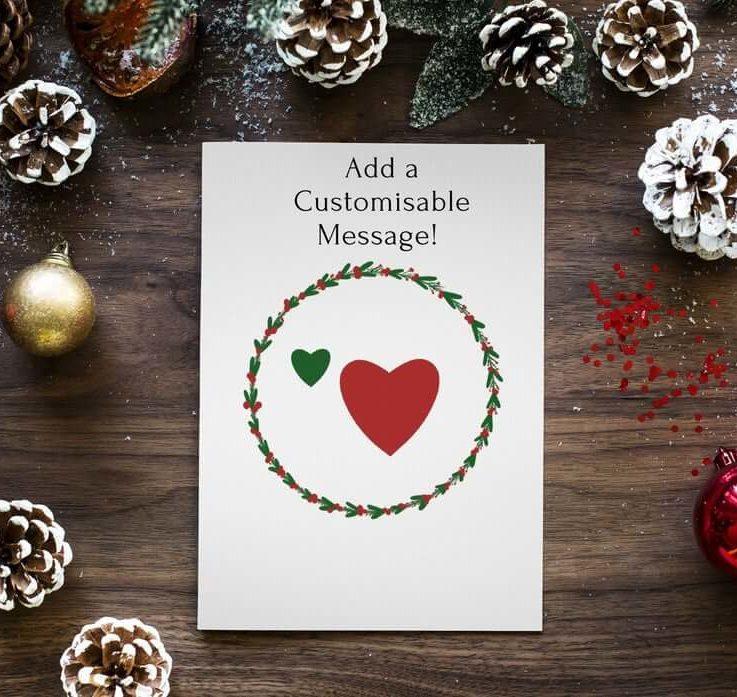 Customisable Christmas Card Festive Christmas Card Christmas Cards for Family
