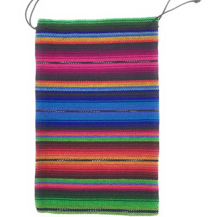 Drawstring Guatemalan 100% Cotton Bag - 6 in x 9.5 in Multi-Colors