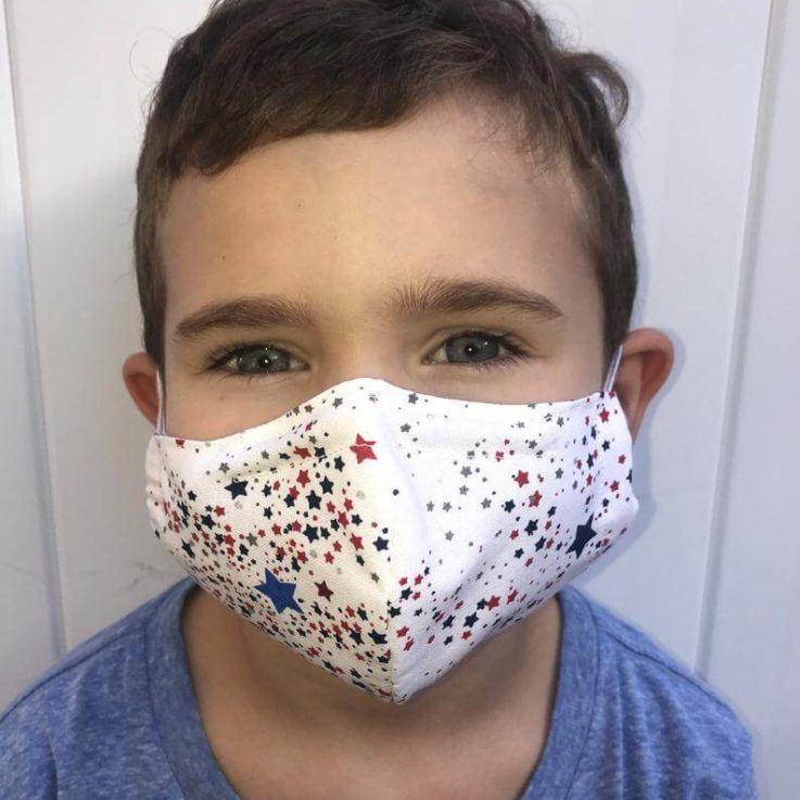Kids Face Mask 100% Cotton Breathable Washable Reusable Double Layer Flexible Nose Wire Filter Pocket Adults & Kids