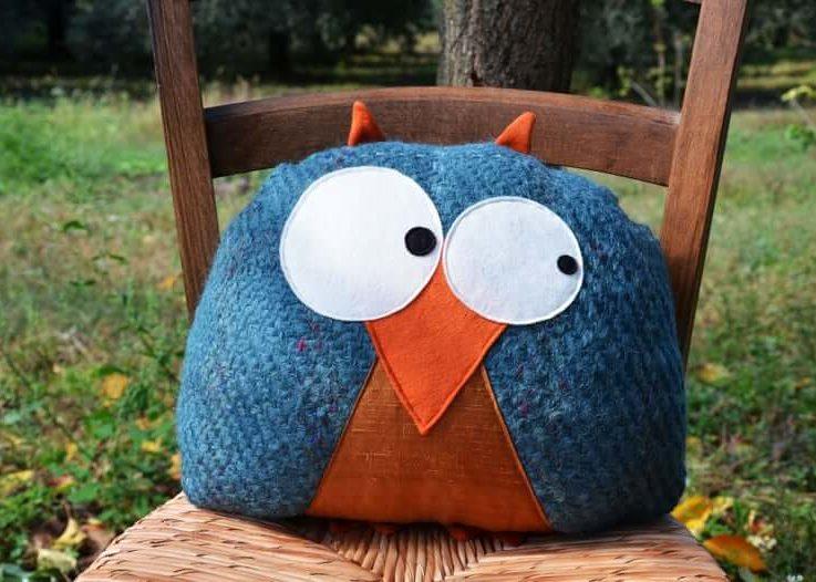 OWL PILLOW, decorative pillows, home decor