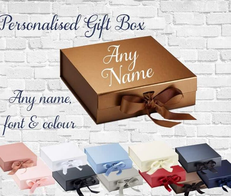 Personalised Medium Luxury Gift box for any occasion with any name in any font and colour