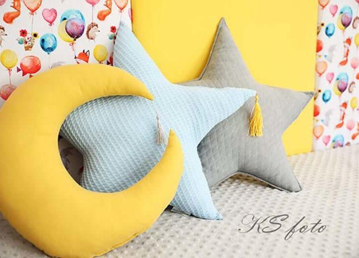 Pillow Star - Moon Pillow - 3 Pieces!!