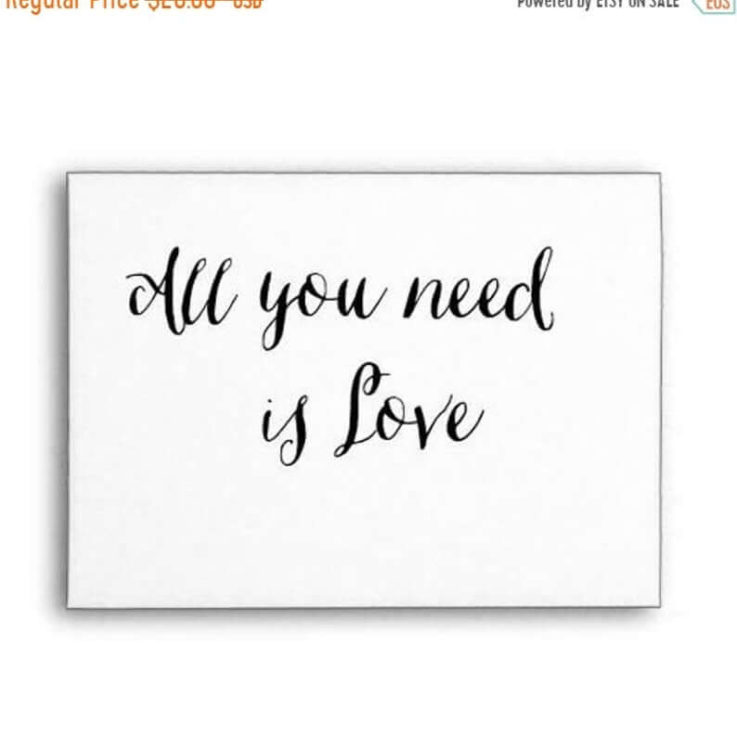 SALE Wedding Quote, All You Need Is Love, Rubber Stamp, Wood Handle or Self Inking