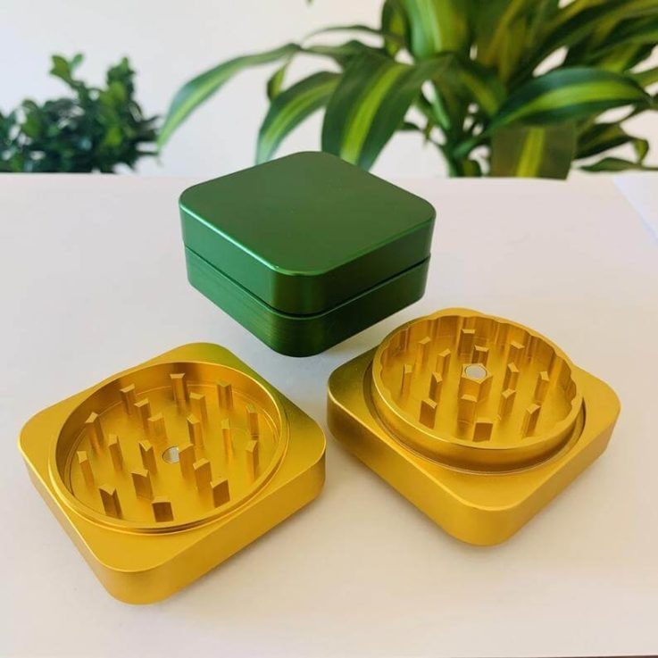 Unique Square High Quality Herb Grinder