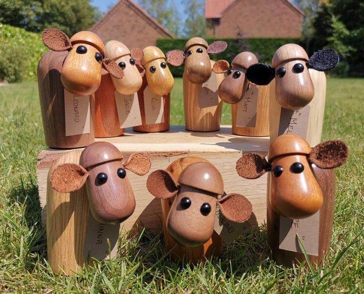 Wooden Sheep, Handmade farmyard animals, Wedding present, Anniversary present, Christmas Secret Santa gift, Wood turning, SilvanWoodturning