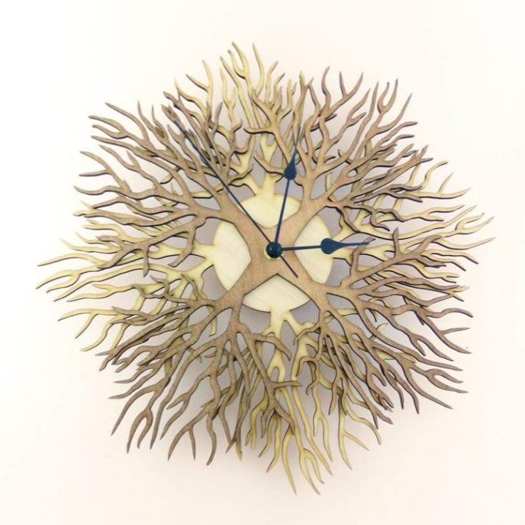 Wooden wall clock TREES two colors version