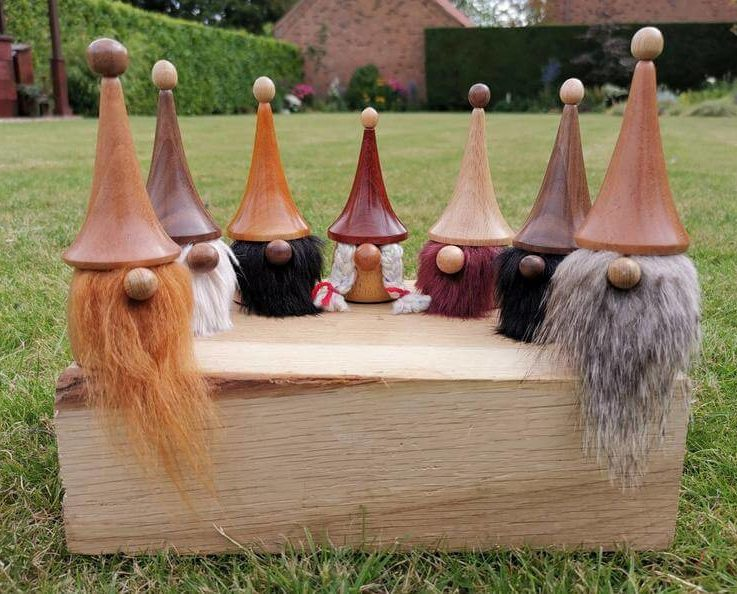 Woodland Gonk, Gnome, Wooden Gonks, Christmas Secret Santa, 5th Wedding anniversary, Birthday gift Him Her, Wood turning, SilvanWoodturning