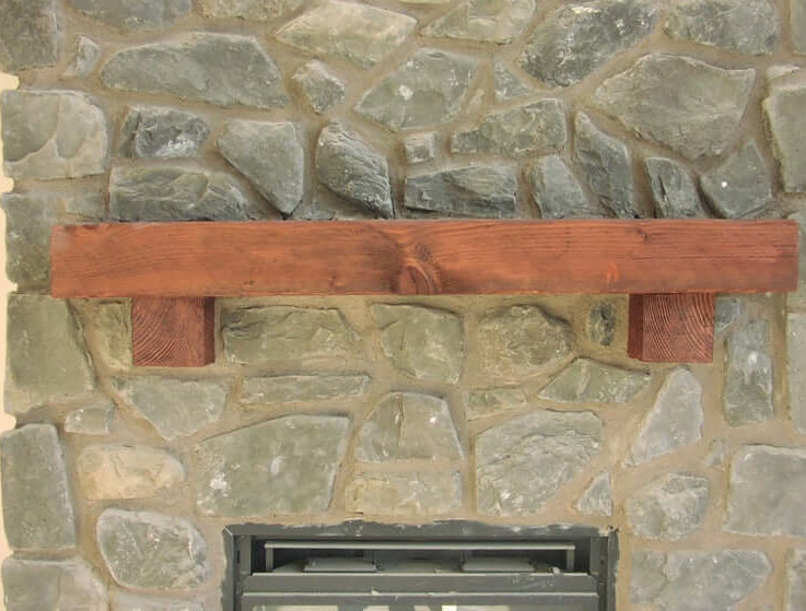 Fireplace Mantel, Barn Beam, Wooden Beam Rustic Rough Hewn Mantel