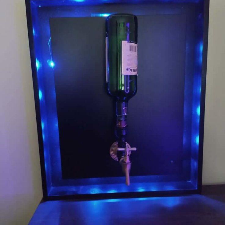 Liquor Dispenser, Whiskey goods for Wall, Alcohol Dispenser for Christmas Party, Led Light Decor, Decorative Sconce