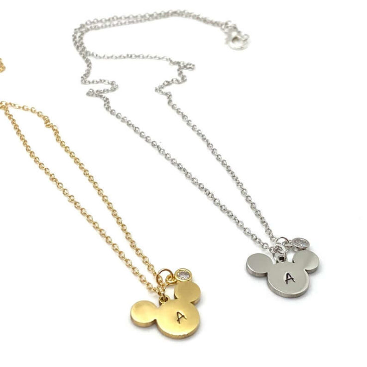 Mickey Inspired Monogram Necklace Customized Disney Inspired Gift For Her Personalized Monogram Necklace Gift For Mom