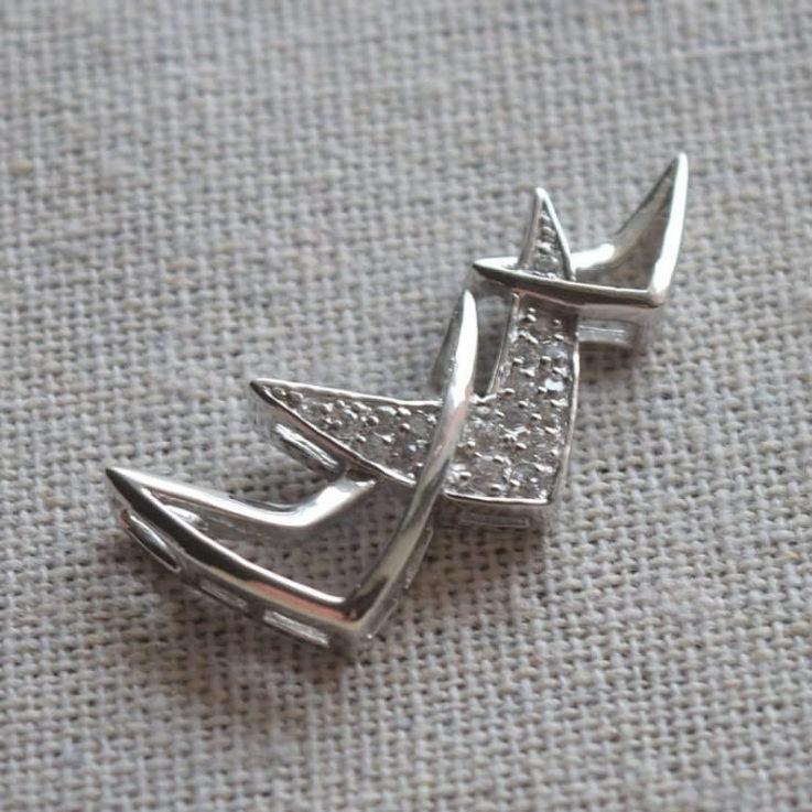 Minimalist Sterling Silver Zircon Pendant