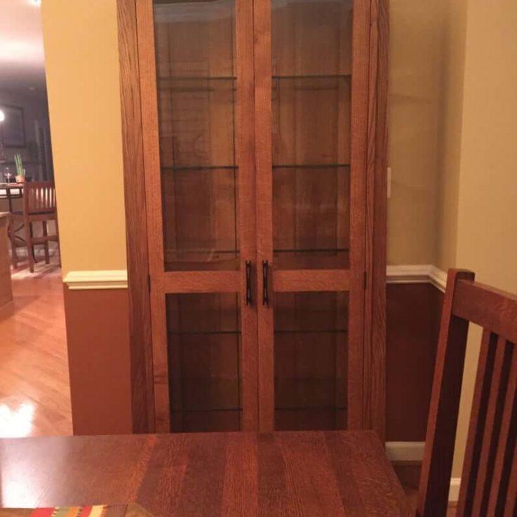Mission oak china cabinet