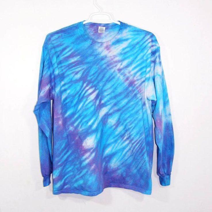 Tie Dye Shibori Long Sleeve T Shirt Adult Youth Sizes
