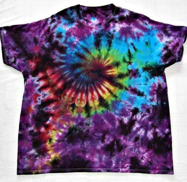 Tie Dye T Shirt Galaxy Swirl Handmade Tye Die Infant Toddler Youth Adult 6 12 18 24 Month 2T 3T 4T 5T 6T XS S M L XL 2XL 3XL 4XL 5XL