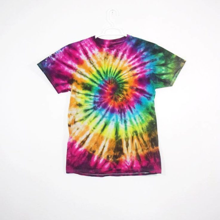 Tie Dye T Shirt Spiral Handmade Tye Die Infant Toddler Youth Adult 6 mos 12 mos 18 mos 24 mos 2T 3T 4T 5T 6T XS S M L XL 2XL 3XL 4XL 5XL