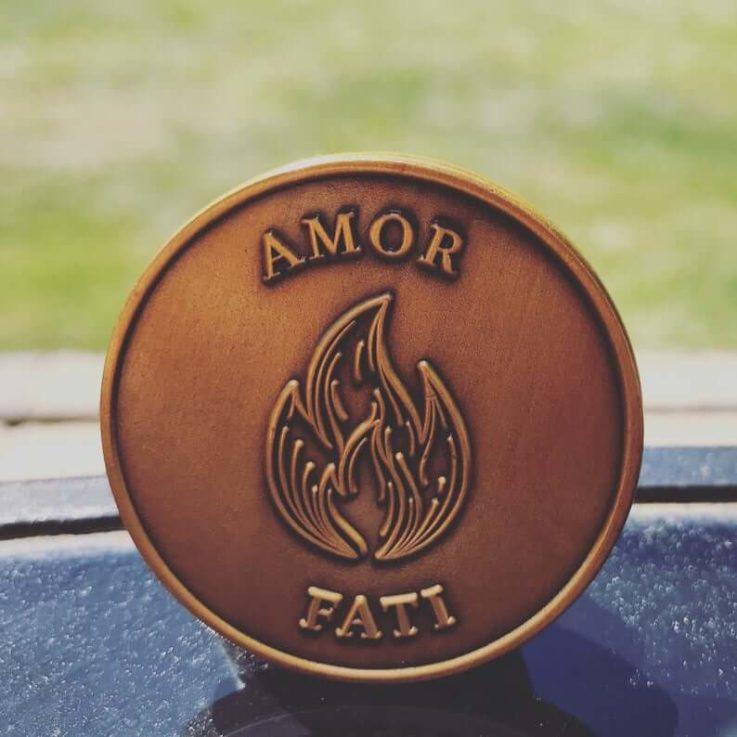 Amor Fati Stoic Challenge Coin