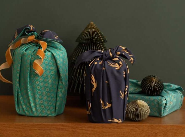 FabRap Midnight & Jade 9 Piece BundleFuroshikiReusable Gift WrappingEco WrapNachaltig Geschenkverpakung aus stoff