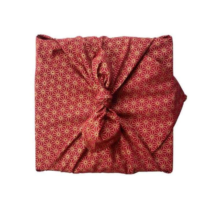 FabRap Ruby Single Sided Furoshiki Reusable gift wrap Eco-friendly alternative gift wrapNachaltig Geschenkverpakung aus stoff