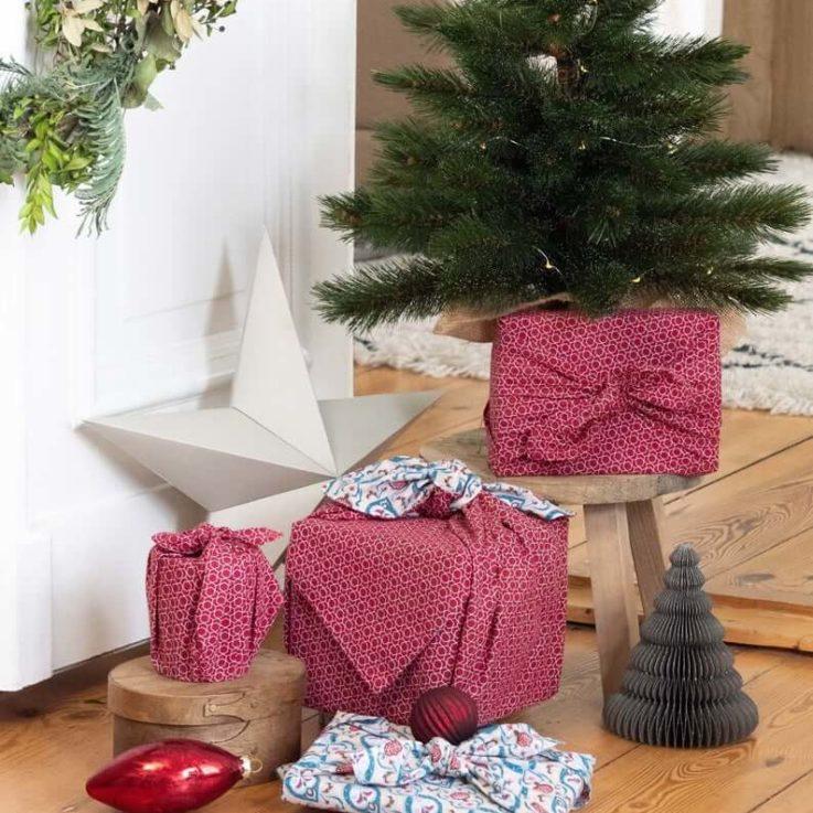 FabRap Teal & Cherry 9 Piece BundleFuroshikiReusable Gift WrappingEco WrapNachaltig Geschenkverpakung aus stoff