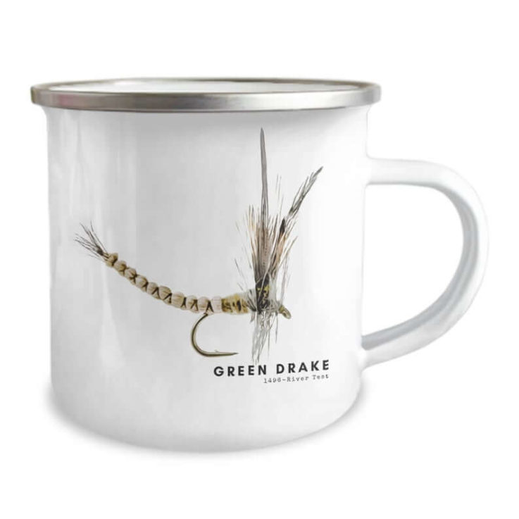 Green Drake Camping Mug