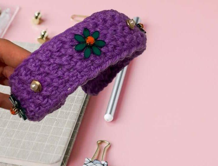 Handmade Crochet Headband With Jewels