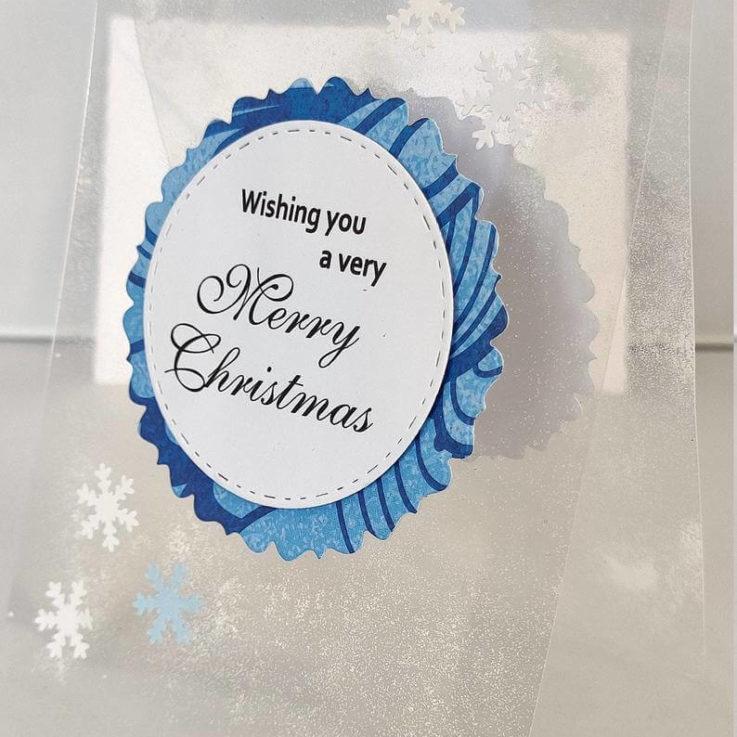 Handmade transparent card, Christmas, bespoke card, birthday, seasonal card, for him her, special card