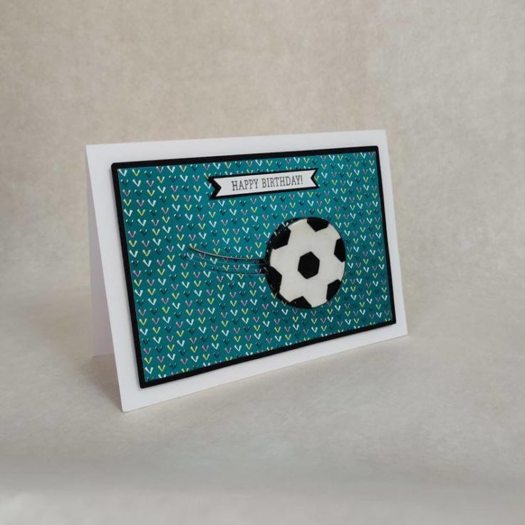 Interactive card with a spinning heart, ball, flower ootballbirthdayCuteCustomSurpriseBespokeAction card