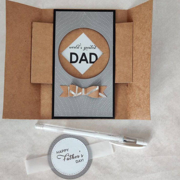 Interactive shutter card Father's day Birthday Mothers day Custom Card Bespoke Card For Him For Her