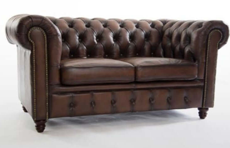 Leather Chesterfield Sofa Vintage Style Chair Duke