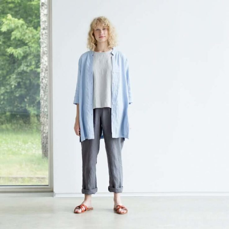 Linen shirt Linen blouse Linen top New linen shirt