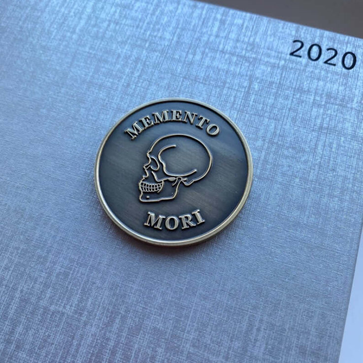 Memento Mori Stoic Medallion Challenge Coin