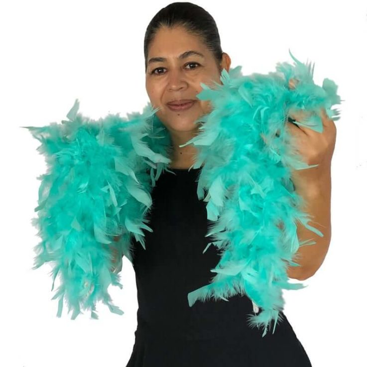 Mint Green 40 Gram Chandelle Feather Boas - 6 Feet Long - Use as Trim or Wear as a Scarf - Halloween Party Favors - Decorations - Feathers