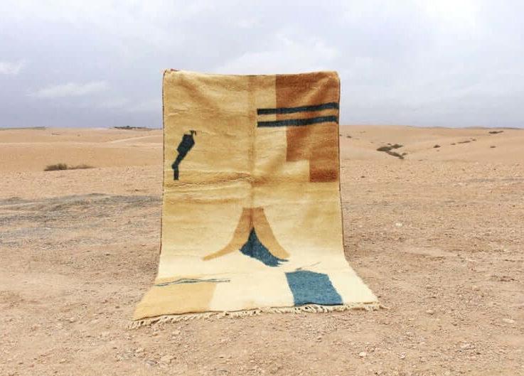 Moroccan area wool rug, Taznakht rug, geometric rug, bohochic rug, patchwork rug, sheepskin rug, bohemian rug, savian rugcandin2